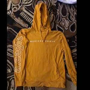 Yellow American eagle sweatshirt